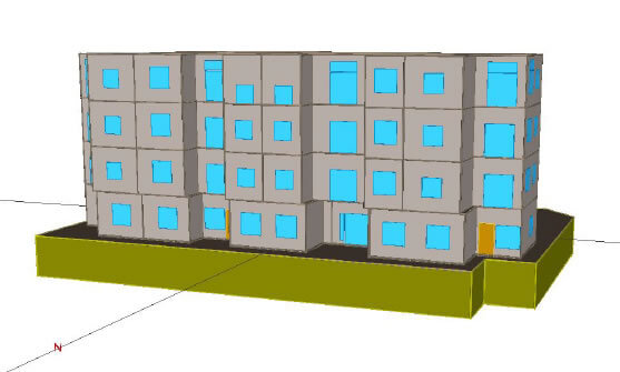 eQuest Simulation Model of Building